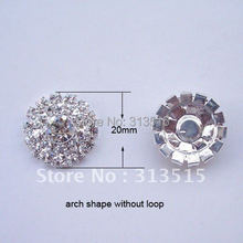 (M0558) 20mm rhinestone embellishment , rhinstone cluster,arch shape, silver or rose gold or gold plating ,flat back(China)