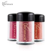 Buy NICEFACE 17 Colors Glitter Metallic Eye Shadow Powder Cosmetic Diamond Makeup Eyes Pigment Grain Powder Woman Spangle Eyeshadow for $1.49 in AliExpress store