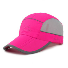 Adult Female Casual Sports Baseball Caps Fashion Trend Three Fold Cap Eaves Adjustable Mesh Breathable Couple Climbing Cap(China)