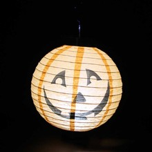 New 6Pcs Different Halloween Decorations LED Pumpkins Lantern Jack Skeletons Spiders Bats Haunted