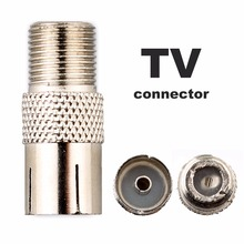 5 PCS F-Type Female Jack to TV PAL Female Plug Coaxial RF Connector Adapter