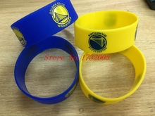 Free Shipping 50 pcs  Popular  Basketball Team Wristband Silicone Promotion Gift Filled In Color Bracelet  LQ-11
