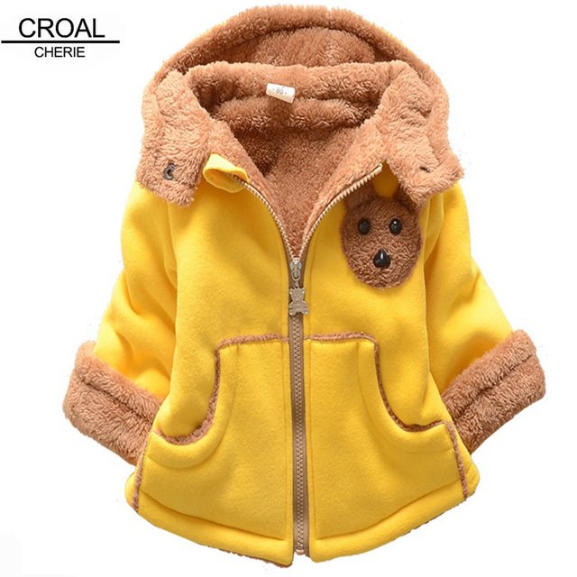 80 120cm Cute Mouse Baby Winter Jackets And Coats Animal Toys Thickened Newborn Boy
