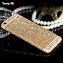 Luxury Scrub Glitter Decal Bling Sticker Phone Case Ultrathin Cover Pink Coque Fundas for iPhone 6s 6 Plus 7 Plus 5s 5 SE 5C 4s(China)