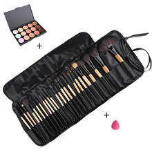 Professional Beauty Cosmetics Makeup Set Fashion Face Concealer Contour Platte+24pcs Pro Make up Brushes+1 Cosmetic Puff+1 bag(China)
