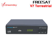 FREESAT V7 Terrestrial DVB-T2 Smart TV Box HD DVB-T2 T2 STB H.264 HD TV Digital Terrestrial Receiver DVB T/T2 Set top Box(China)