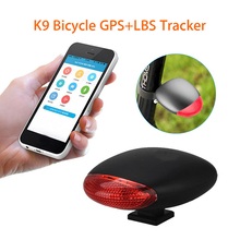 K9 Waterproof Bike Intelligent Taillight GPS Locator Long Standby Wireless WIFI Vibration Alarm System Real-time Tracking(China)