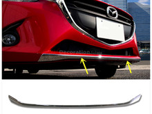 NEW Arrival !! For Mazda 2 Demio 2015 2016 1pcs ABS Chromium Styling Front Bottom Bumper Cover Trim