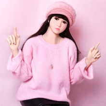 PINKLOVER small breast 155cm Real Sex Dolls Silicone Love Dolls Skeleton Toys for Men Vagina Pussy(China)