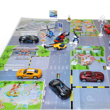 Educational Toy Car Parking Lot Map For Helicopter Car City Simulation Scene Map Kids Toy