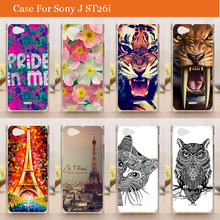 Buy New Fashion Pattern painting Protective Back Cover Case Sony Xperia J St26i Luxury Hard Plastic Cases for $1.41 in AliExpress store