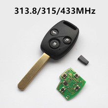 3 Buttons Remote Key for Honda 2003-2007 FIT CITY Odyssey Accord CRV CR-V 313.8/315/433 MHz with ID46 chip