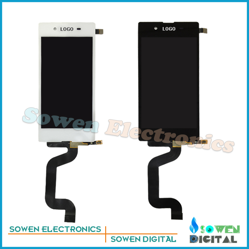 for Sony Xperia E3 D2203 D2206 LCD screen display with touch screen digitizer assembly full sets,Black White<br><br>Aliexpress