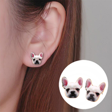Buy 2017 New Fashion Designed Cute Colorful Enamel Animal Dog Head Stud Earring Bulldog Earrings Puppy Dog Earrings Women OED050 for $2.39 in AliExpress store