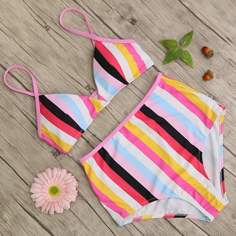 High Waist Swimsuit, Women's Bandage Top Push Up Swimwear, Female Bathing Suit 41