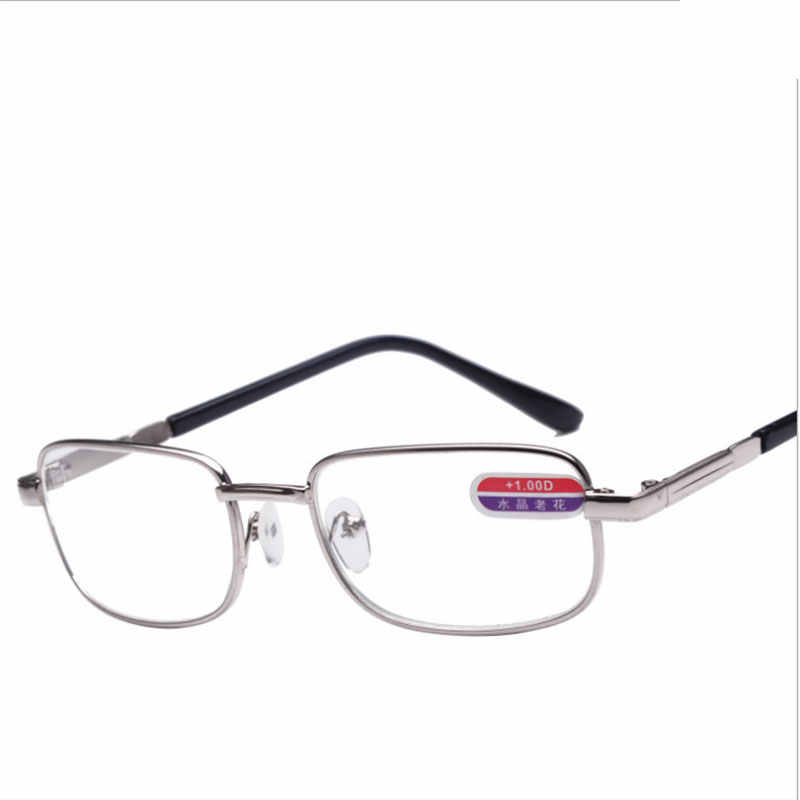 ccca67bad0 Design Optics Reading Glasses 2016 Diopter Silver Alloy Men and Women Glass  Oculos De Leitura Points