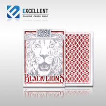 [EPCS] Red Black Lions poker David Blaine Red Lion imported poker Magic DecK Props(China)