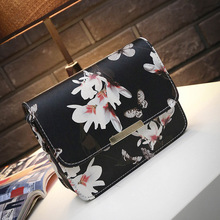 Korean Floral Printed Flap Ladies Shell Women Crossbody Messenger bags Handbags Purses Sling Shoulder bags Free shipping H203