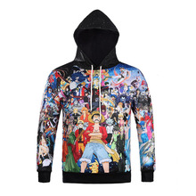 Harajuku Anime One Piece Naruto Dragon Ball Death Note Hoodies 3D Print Hip Hop Pullover Sweatshirts Outfit Tops(China)
