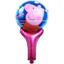 wholesale 50pcs/lot Cartoon Fancy Happy Pink Pig Balloons Foil Balloons Toys for childrens Kid's birthday Gift party decorations