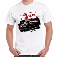 New 2017 Funny New Fashion Men men's T Shirt Uomo Stampa Telefilm Famosi Anni 80 Vintage A-Team Van Logocustom tee shirts(China)