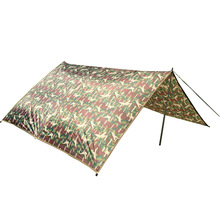 Ultralight Camping Tarp Sun Shelter Tent Large Rian Car Tarpaulin Waterproof Cover Awning Sun Shade Nylon Camouflage Tarps(China)