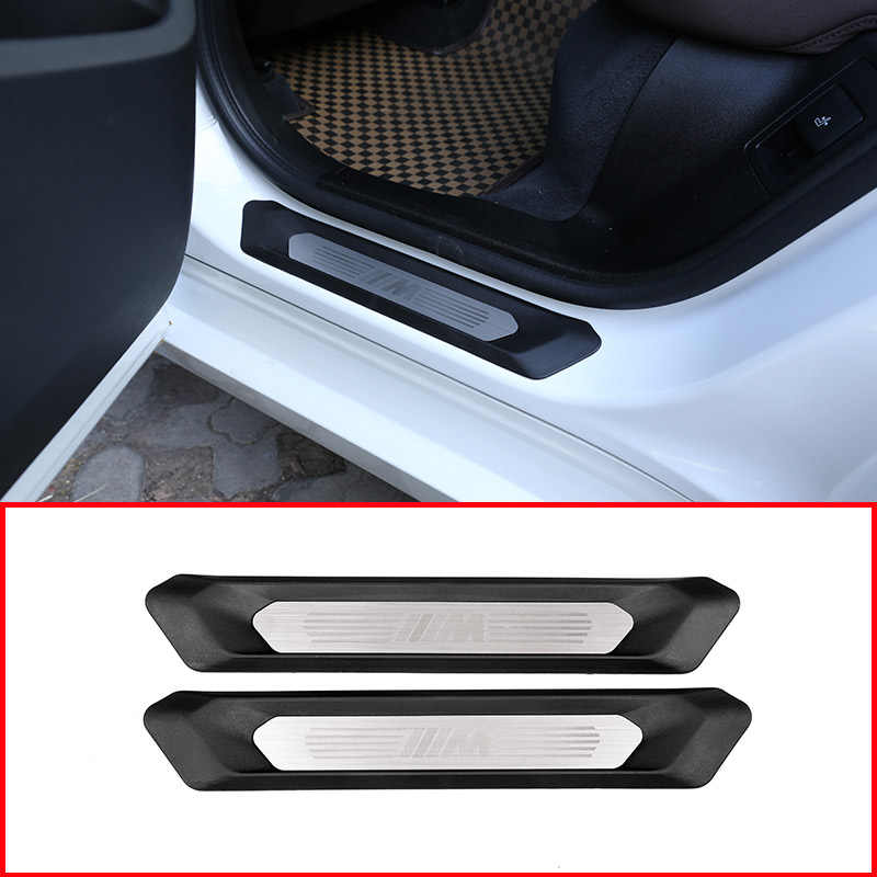 Silver DIYUCAR Car Styling ABS Chrome Central Control Side Protective Strips For Model 3 2016-2019 For Model Y 2017-2020 Car Accessories