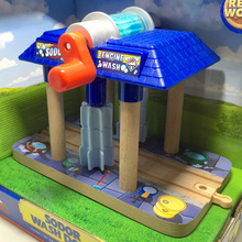 p118 Thomas luxury wood track multi-purpose rail train car wash room with water sound boxed Sodor wash down engine wash sounds