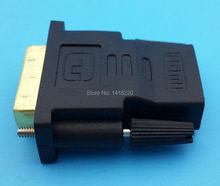 1Pcs DVI 24+1 Male To HDMI Female Gold Converter Gold Plated Adapter Useful SC(China)