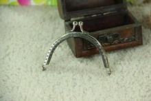 Metal Purse Frame 8.5cm/5pcs Gold Silver Handmade Fabric DIY The Mouth Gold Package Coin Purs Kiss Clasp Lock