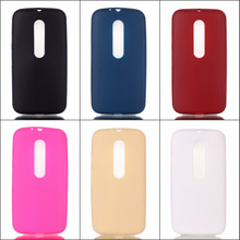 High Quality Fashion Candy Colors Jelly Soft TPU Silicone Shockproof Case For Motorola Moto G3 G 3nd Gen G 3