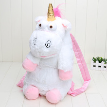 Retail 50cm Unicorn Backpack unicorn bag plush unicorns toy backpack toys for girls kids(China)