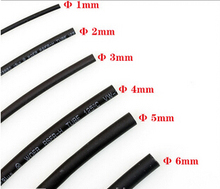1 METER/LOT High Quality 7/8/9/10/11/12/13/14/15/16MM Diameter Black Color Heat Shrink Tube Sleeving Wrap Wire Cable