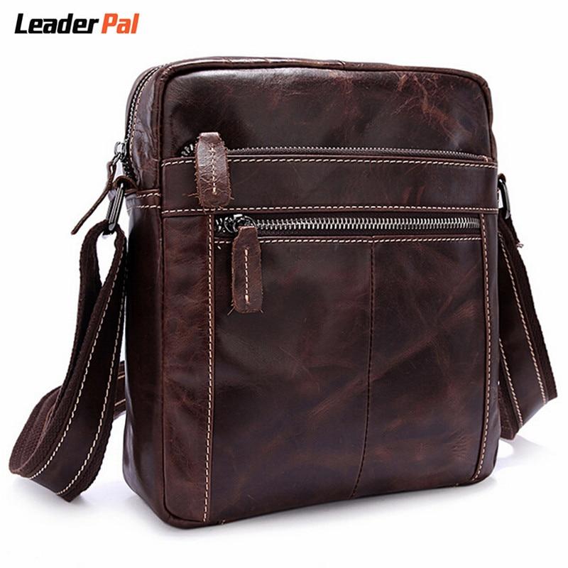 Men Bag Famous Brand Genuine Leather Men Messenger Bags Vintage Casual Mens Travel Bag Man Leather Crossbody Shoulder Bags Small<br>