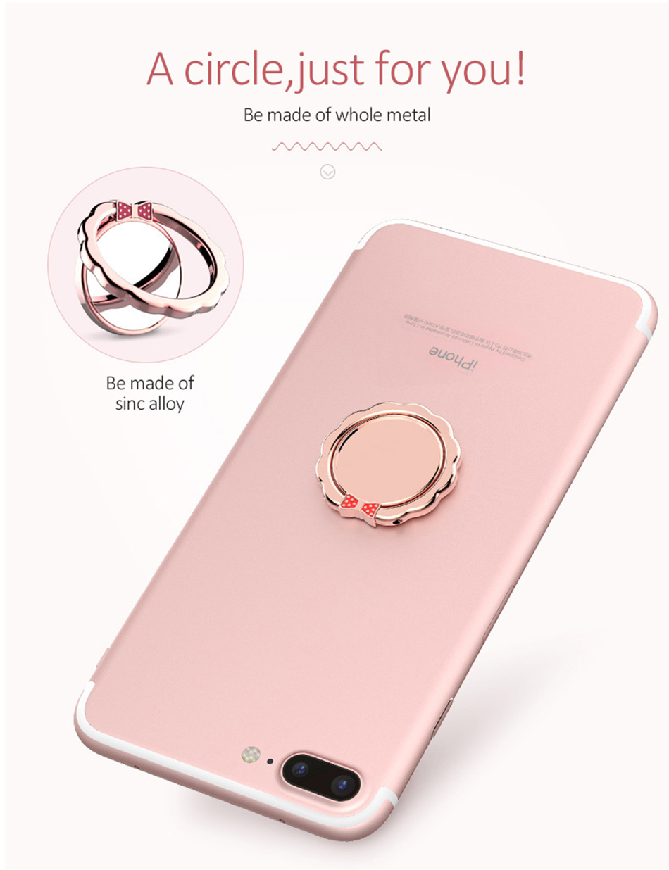 Original H&lOO mirror Ring Bracket Finger Grip Phone Desktop Holder Safe and Firm Built-in Iron Sheet for Most Mobile Phones (2)