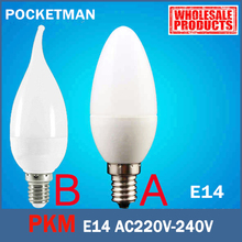 E14 LED Candle Bulb E14 2835 SMD 6W Led Candle Light Bulb Lamp Warm/Cool White Home Interior Decoration Mode A B ZK49(China)