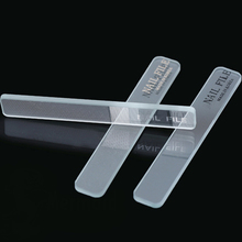 Nail Files Tools New Transparent and Translucent Durable Crystal Glass Nail File nail care Files Tools(China)