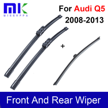 Front And Rear Wiper Blades For Audi Q5 2008 2009 2010 2011 2012 2013 Silicone Rubber Windshield Wiper Auto Car Accessories
