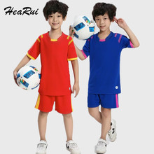 2017 New Kids Short Sleeved Soccer Jersey Young Soccer Suit Children Football Uniforms Customized T shirt Suits