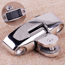 CITALL Silver 316 Stainless Steel Marine Boat Yacht Swivel Deck Hinge With Rubber Pad Mountain Type Fittings(China)