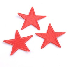 3pcs Patch DIY Red Star Embroidered Patches Fabric Badges Iron-On Sewing For Clothes Hat Decorative Ornament CP0901