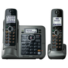 2 Handsets KX-TG7641 series DECT 6.0 link-to-cell Digital wireless phone Cordless Phone(China)