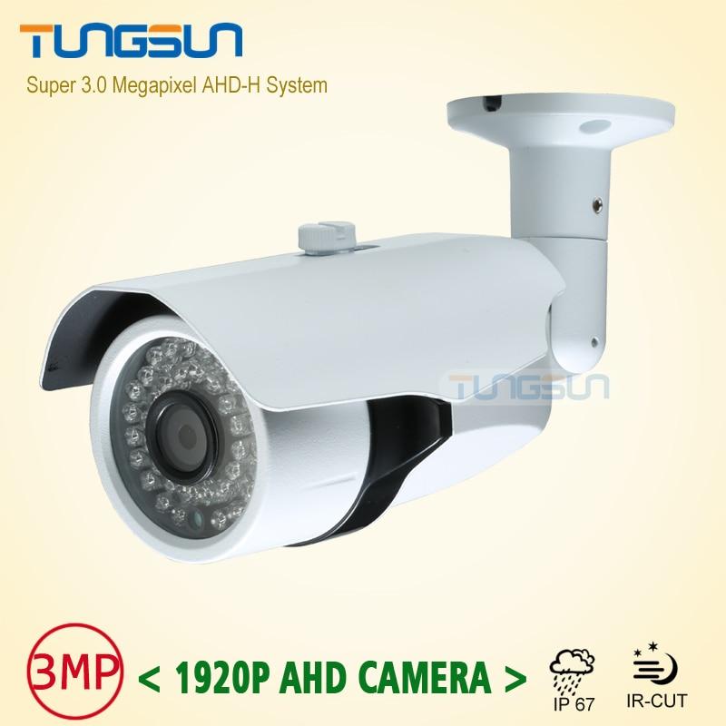 New Super 3MP 1920P HD Camera Surveillance CCTV Metal Bullet Outdoor Waterproof 36 infrared Night Vision AHD Security Camera<br>
