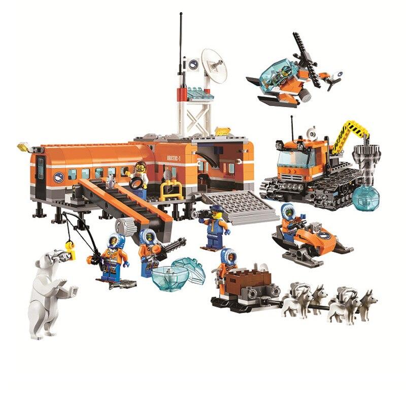 BELA 10442 City  Arctic Base Camp 60036 Building Blocks Policeman Figure Toys For Children Girls<br><br>Aliexpress