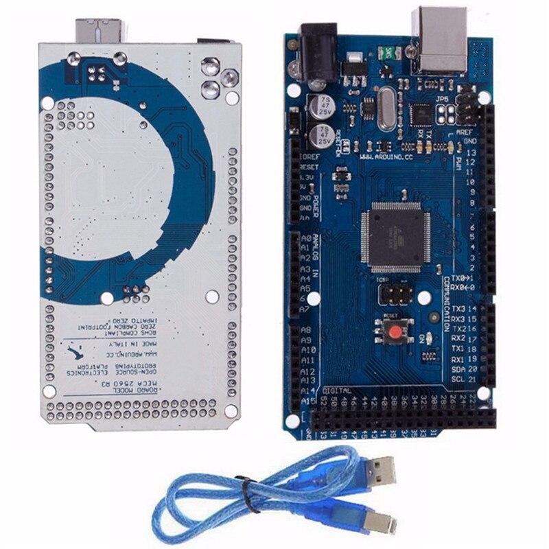 New Electric Unit Board ATmega2560 16AU Microcontroller Board + USB Cable For Arduino Module R3 For MEGA 2560 5V<br><br>Aliexpress