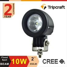 Factory Price 2PCS 2INCH10W CREE LED Work Light Spot Flood 800LM for OFF-ROAD 4x4 MOTORCYCLE BOAT ATV 12V 24V Free Shipping