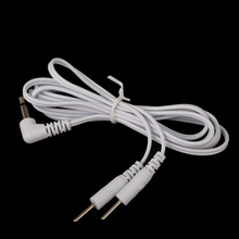 2 Pins Lead Wires Connecting Cables for Electrode Pad Digital TENS Therapy Massager 3.5mm Plug