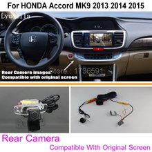 Connect Original Factory Screen / Monitor Car Camera For HONDA Accord MK9 2013 2014 2015 High Quality Rear View Back Up Camera