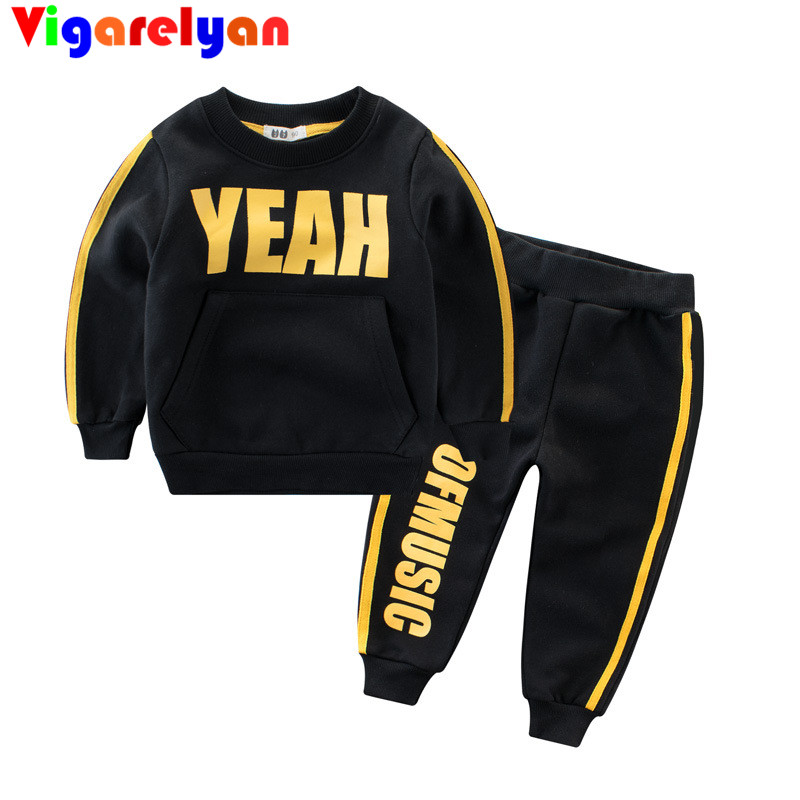 Spring New Boy Suit Childrens Sports Long-sleeved Sweater+Pants Two Pieces Sets Baby Girls Casual Sweatshirts Long Trousers Set <br>