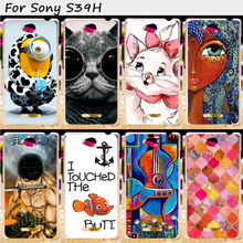 Hard Plastic&Soft TPU Silicones Phone Cover For Sony Xperia C S39h C2305 Cases Cute and Fashional Mobile Phone Bags and Cases
